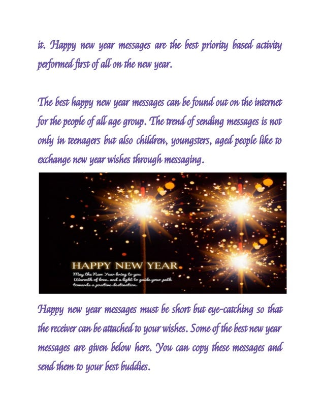 these sms carry the new year message to the person who receives 2 it happy