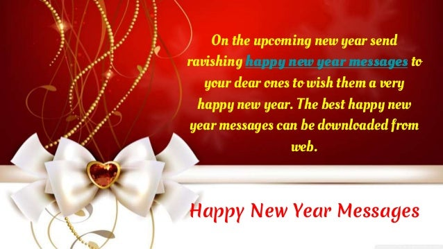 happy new year messages on the