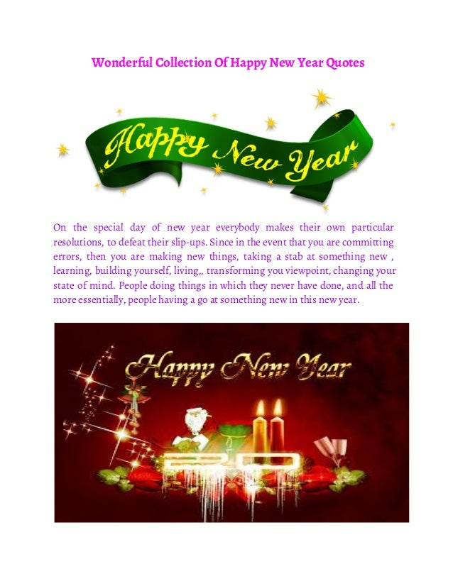 Wonderful Collection Of Happy New Year Quotes On The Special Day Everybody