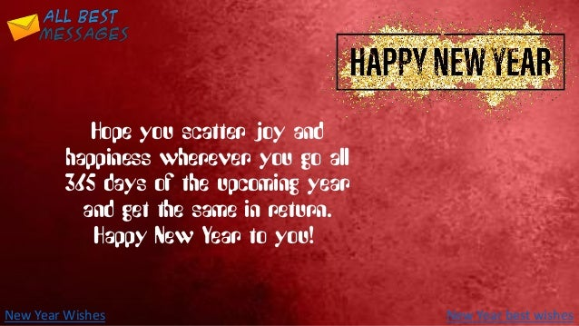 new year wishes let me wish you a very happy