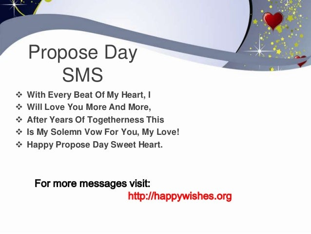 Best Message For Propose Day Valentines Day Info