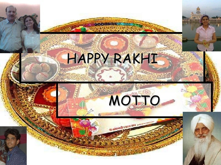 HAPPY RAKHI MOTTO