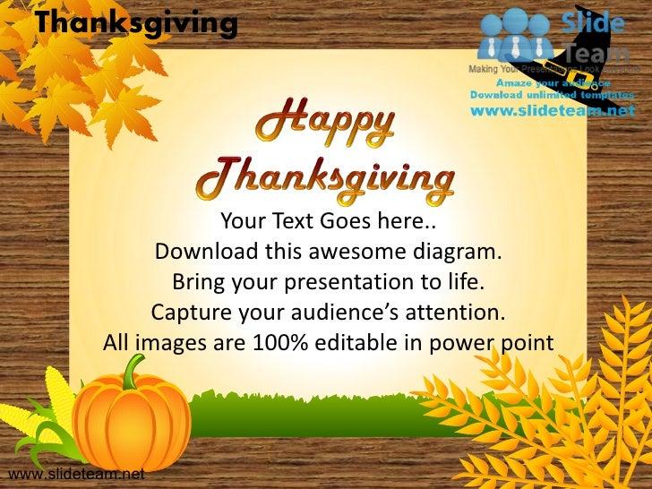 Happy thanksgiving turkey celebrations powerpoint templates thanksgiving toneelgroepblik Gallery