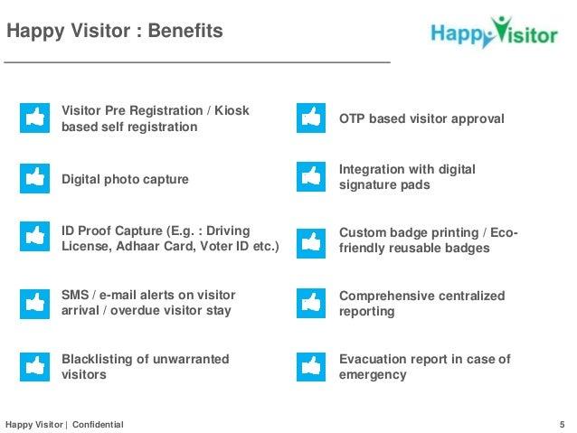 Visitor Management System Happy Visitor