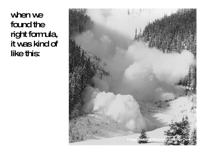 when we found the right formula, it was kind of like this: Image: National Snow and Ice Data Center