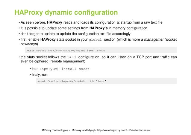 Performance Tuning of HAProxy for Database Load Balancing