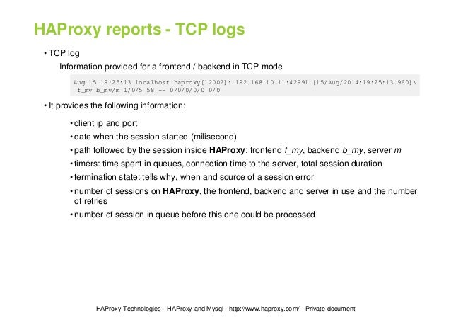 Performance Tuning of HAProxy for Database Load Balancing - Slides