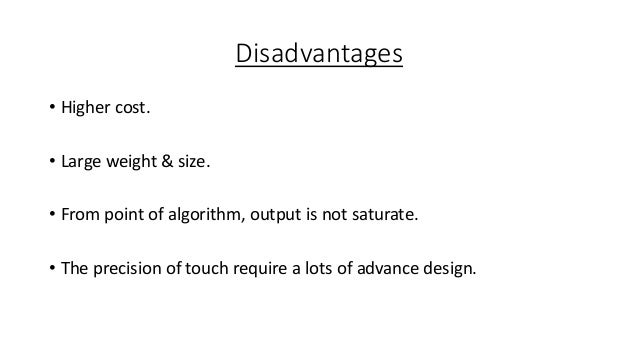 What are advantages disadvantages of haptic technology