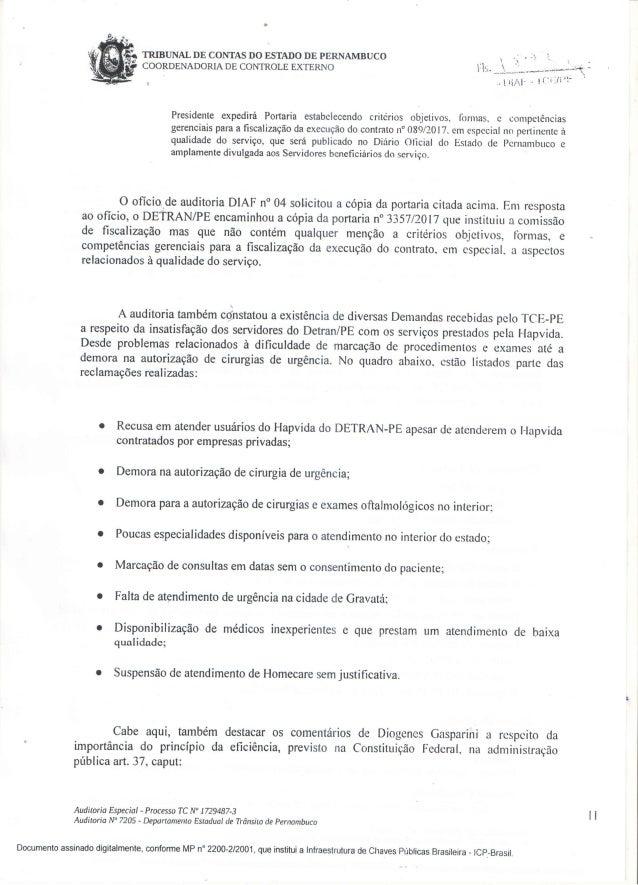 Relatório TCE Hapvida Detran