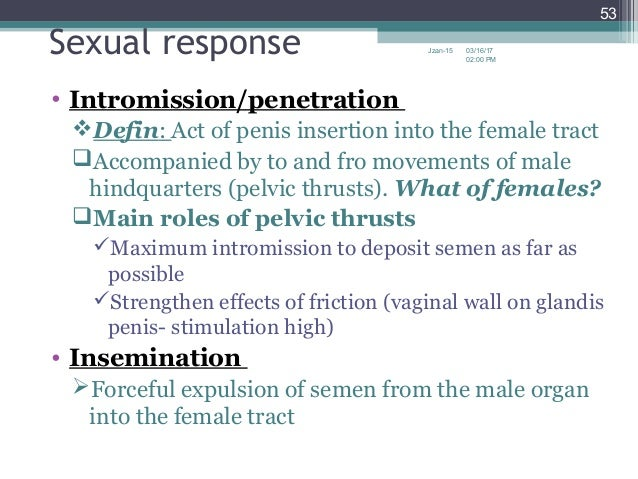 Penetration and intromission