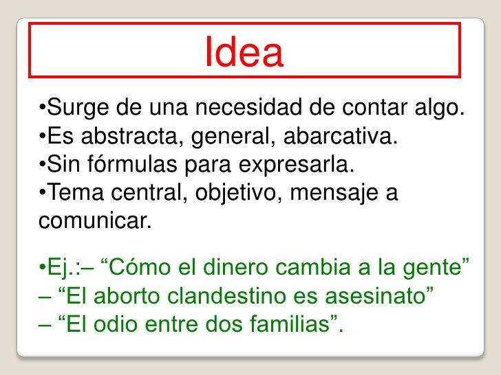 La idea y el storyline en el guión audiovisual de ficción Slide 3