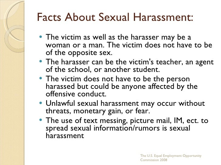 Sexual harassment facts and statistics