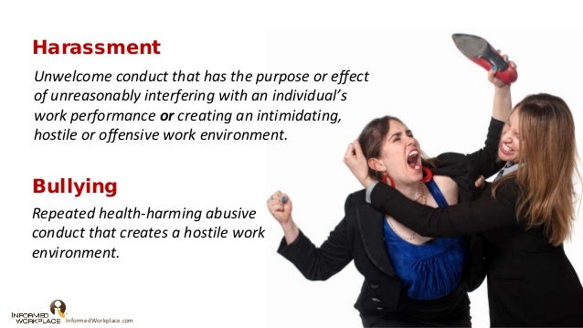 harassment prevention from the illegal to the currently legal to the