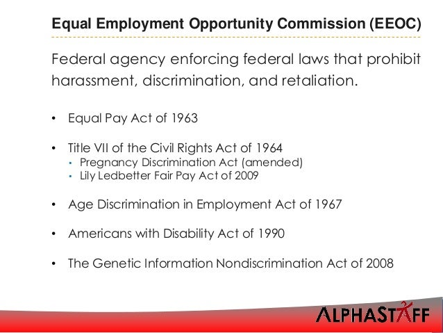 Harassment and discrimination including executive orders 14 equal employment spiritdancerdesigns Images