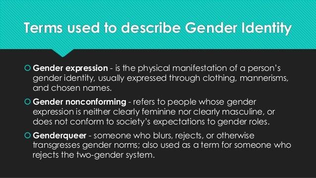 Gender roles vs sexual orientation