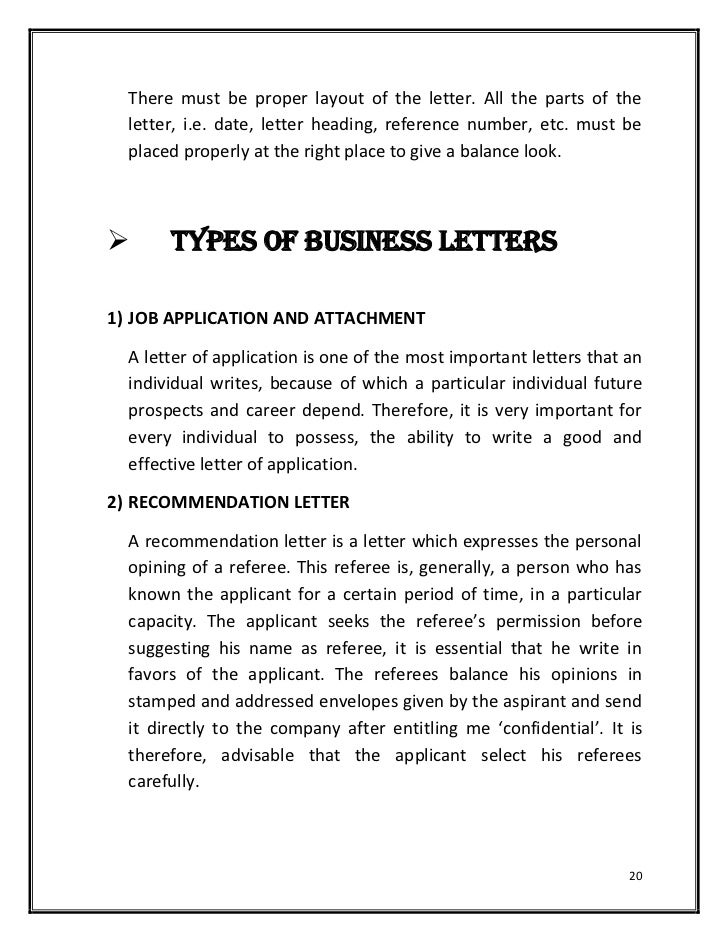 LAYOUT: 19; 20. There Must Be Proper Layout Of The Letter.