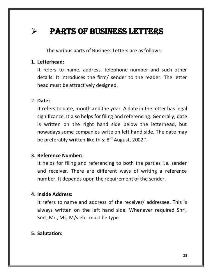 Hardcopy Of Basics Of Effective Writingbusiness Letters Typespur