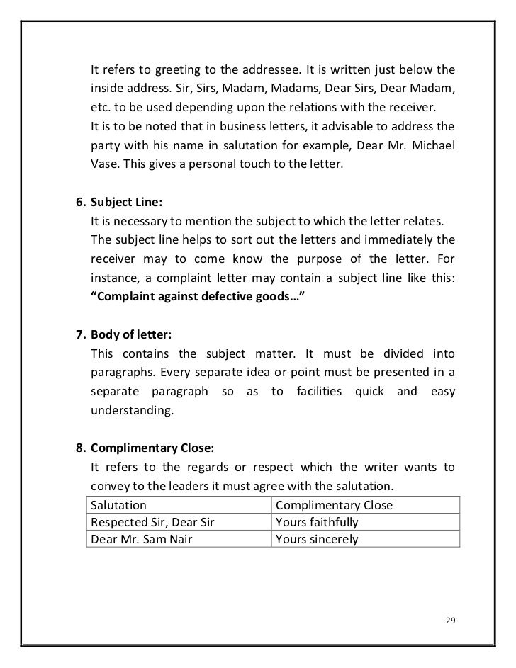 Hardcopy of basics of effective writingbusiness letters typespur salutation 28 29 spiritdancerdesigns Choice Image