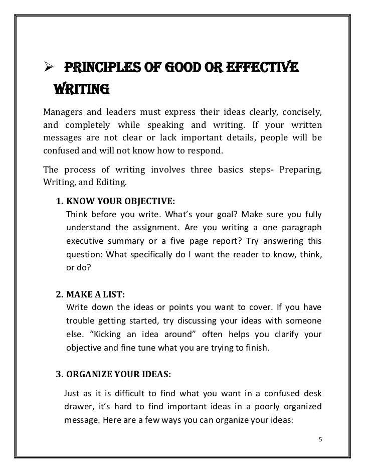 Hardcopy Of Basics Of Effective Writingbusiness Letters Typespur