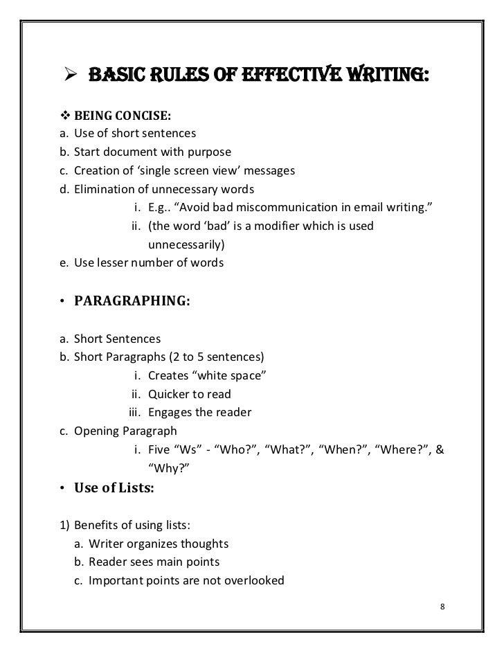 Hardcopy of basics of effective writingbusiness letters typespur 7 8 spiritdancerdesigns Gallery
