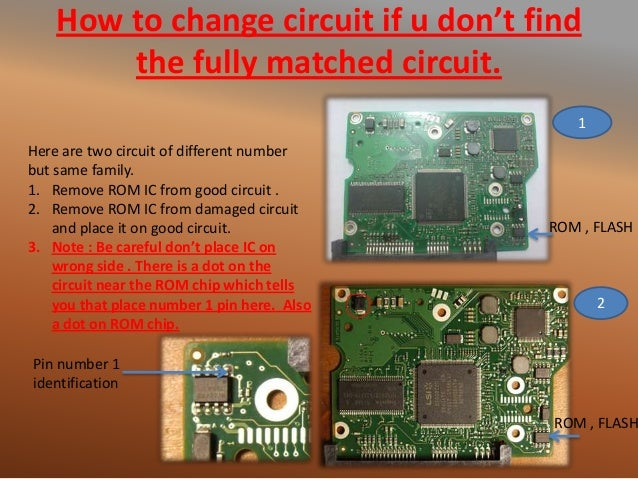 How to change circuit if u don't find the fully matched circuit. ROM , FLASH ROM , FLASH 1 2 Here are two circuit of diffe...