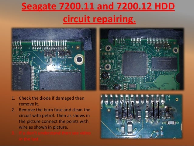 Harddisk pcb repairing