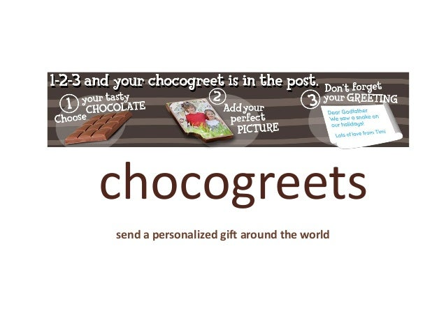 chocogreets send a personalized gift around the world