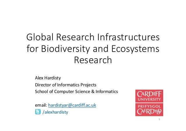 GlobalResearchInfrastructures forBiodiversityandEcosystems Research AlexHardisty DirectorofInformaticsProjects...
