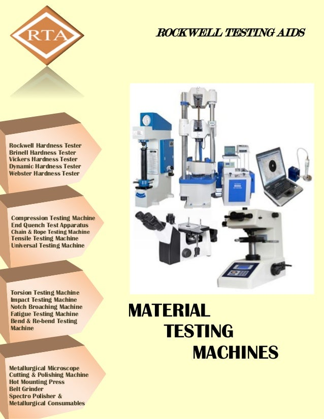 ROCKWELL TESTING AIDS MATERIAL TESTING MACHINES Rockwell Hardness Tester Brinell Hardness Tester Vickers Hardness Tester D...