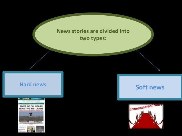 Hard news vs soft news Slide 2