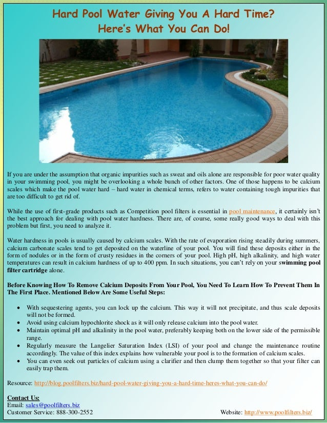 Hard Pool Water Giving You A Hard Time? Here's What You Can Do!