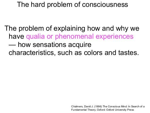 Hard problem of consciousness