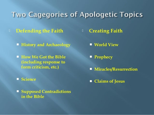 Christian Apologetics: Answering the Hard Questions: Notes and Power …