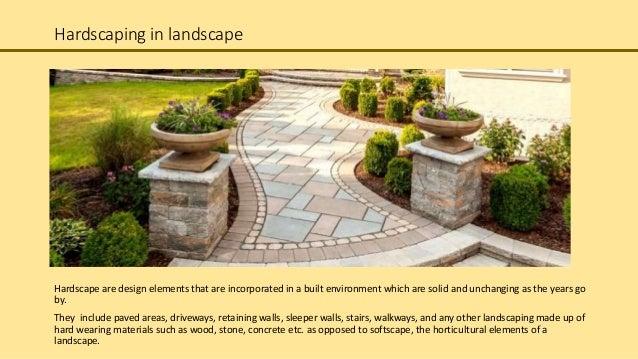 landscape architecture hardscaping elements