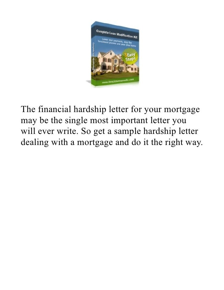 5 the financial hardship letter