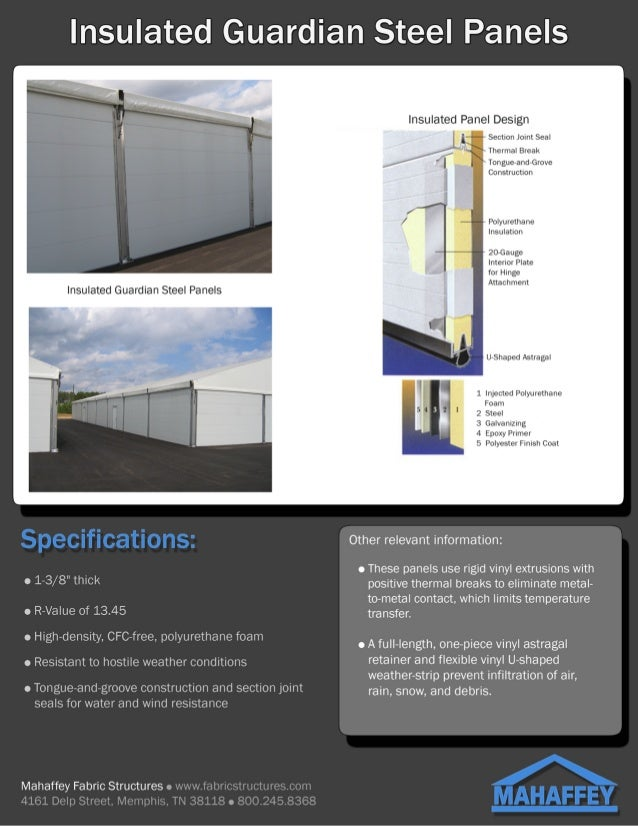 Insulated Steel Hard Sides for Fabric Structures