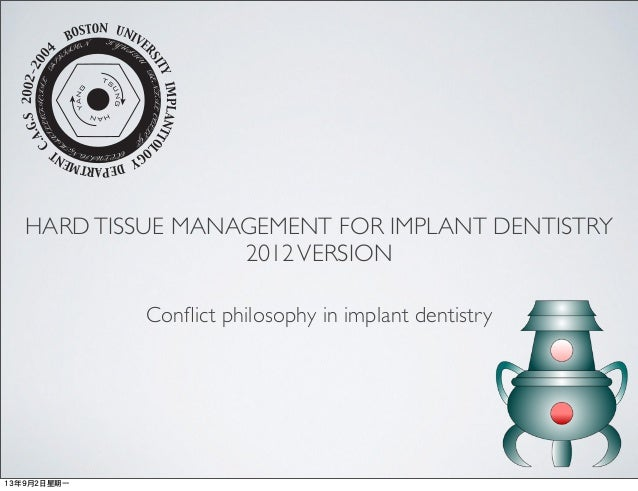 HARDTISSUE MANAGEMENT FOR IMPLANT DENTISTRY 2012VERSION BOSTON UNIVE RSITYIMPLANTTOLOGY DEPARTMENT C.A.G.S2002-200 4 KYUSH...