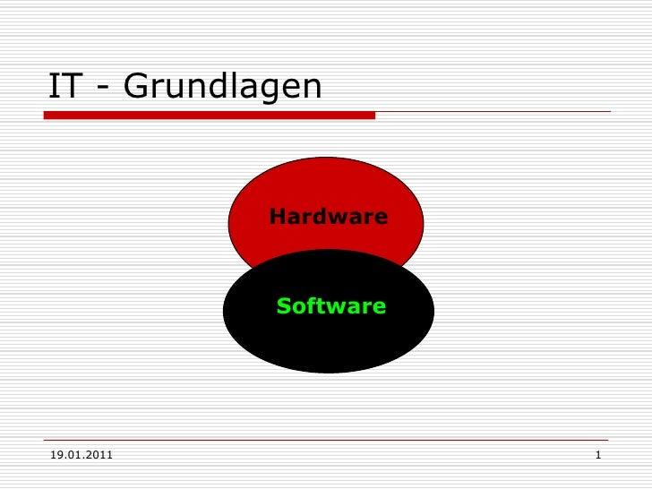 19.01.2011<br />1<br />IT - Grundlagen<br />Hardware<br />Software<br />