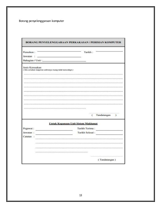 Contoh Jadual Kerja Penyelenggaraan Contoh Six