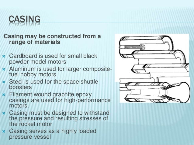 Hardware components of solid rockets