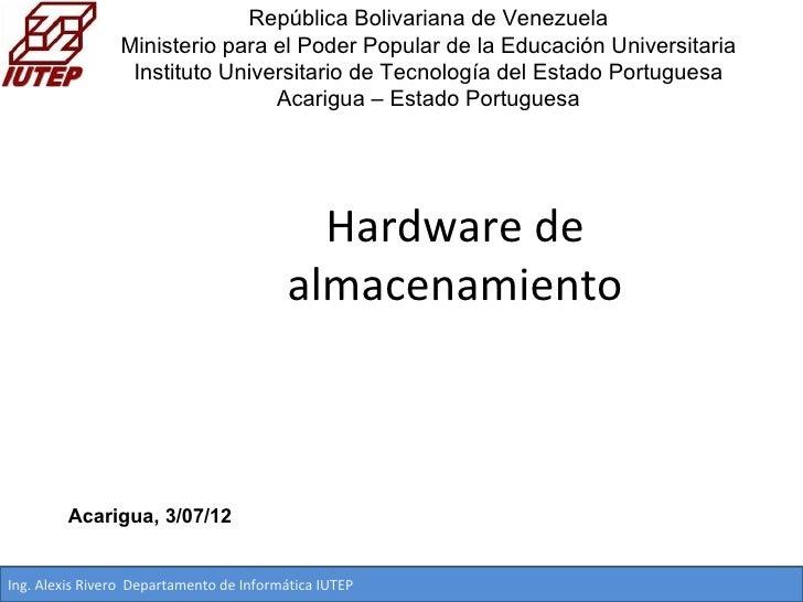 República Bolivariana de Venezuela                 Ministerio para el Poder Popular de la Educación Universitaria         ...