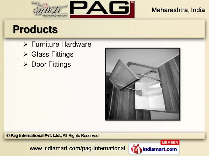 Products  Furniture Hardware  Glass Fittings  Door Fittings