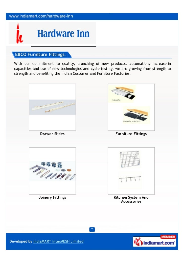 Hardware Inn Hyderabad Hettich Hardware Fittings