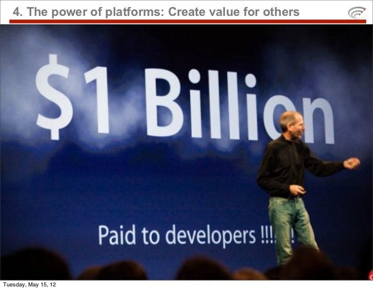 4. The power of platforms: Create value for othersTuesday, May 15, 12