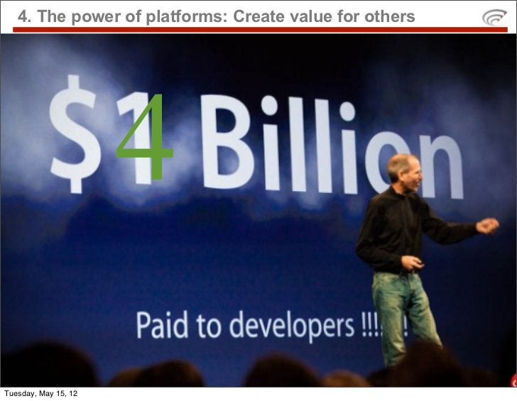 4. The power of platforms: Create value for others                      4Tuesday, May 15, 12