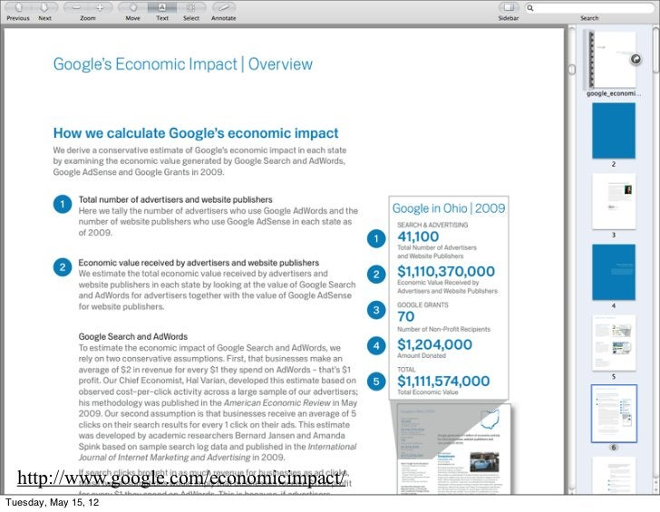 http://www.google.com/economicimpact/Tuesday, May 15, 12