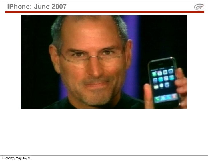 iPhone: June 2007Tuesday, May 15, 12