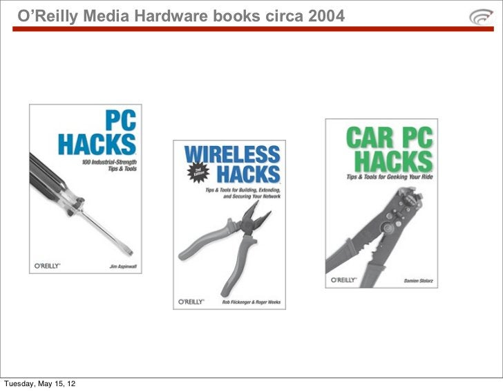O'Reilly Media Hardware books circa 2004Tuesday, May 15, 12