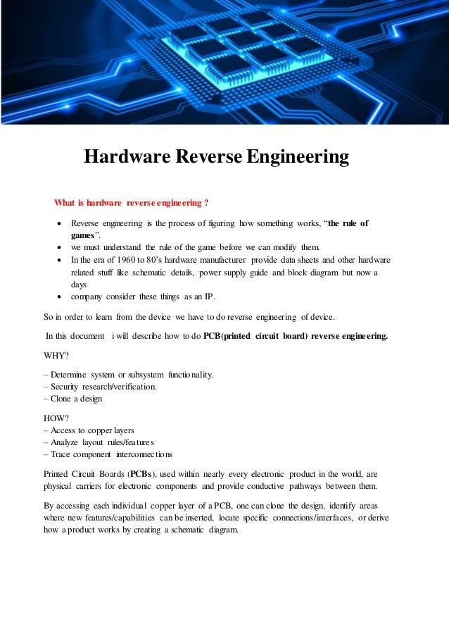 Hardware reverse engineering of PCB(basic) using MATLAB(