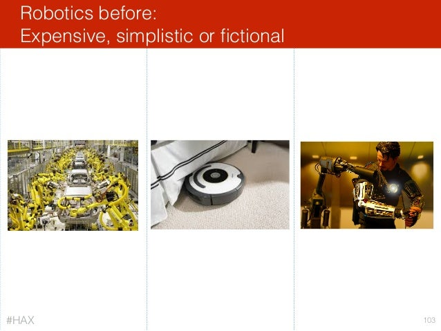 Robotics before: Expensive, simplistic or fictional 103#HAX